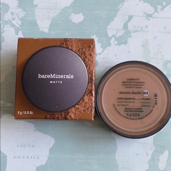 bareMinerals Other - Bare Minerals matte foundation warm dark spf 15